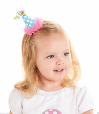 Mud Pie Toddler Girl Birthday Chiffon Ruffle Party Hat Hair Clip 176421