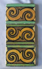3 American Encaustic Border Tile Los Angeles AETCO LA  Arts & Crafts Art Deco
