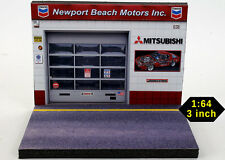 Diorama présentoir Mitsubishi Newport Beach Motors Inc.  - 1/64ème - #MR3inR002