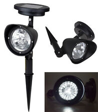 1~Solar Garden Lamp Spot Light Outdoor Lawn Landscape Path 4-LED Spotlight Black