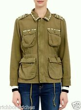 "Current / Elliot spring army studded ""Lone Soldier Army Jacket"" NWT  3/10/L $385"