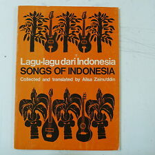 SONGS OF INDONESIA ailsa zainu`ddin , 1969