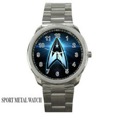 New Custom STAR TREK STARFLEET logo - Sport metal watch free shipping