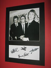 THE JAM PAUL WELLER BRUCE FOXTON RICK BUCKLER  MOUNT SIGNED REPRINT AUTOGRAPHS