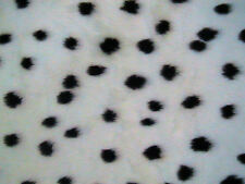 "Dalmatian dog Animal Print Patterned Fur Fabric 60""wide SOLD BY THE METRE"