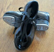 $35 Bloch Techno Toddler Girls Kids 8.5 8 1/2 M Black Patent Ribbon Tap Shoes
