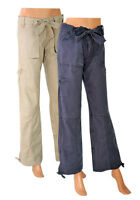BRAND NEW WOMBAT WOMENS LOOSE FIT COMBAT TROUSERS ROLL UP  RRP £29.99