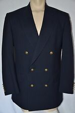 40L Men JOS BANK Sport Coat DOUBLE BREAST Hopsack Blazer GOLD BUTTON Navy Blue