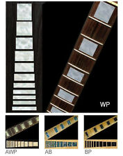 Block Fret Markers Inlay Stickers Decals Guitar Black Pearl