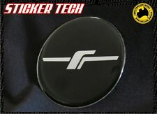 FORESTER FOZ STI TURBO 'F' BLACK AND CHROME CENTER HUB CAP BADGE EMBLEM STICKER