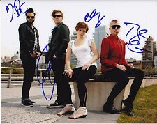 Neon Trees Autographed 8x10 Photo (Reproduction)