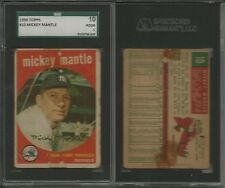 1959 Topps Baseball 316/572 cards set/lot Mickey Mantle #10 SGC High #s Aaron @@