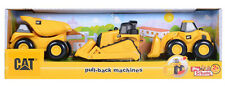 CAT Pull Back Machines Vehicle Trio Construction Toys