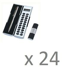 New Gadget Magic Ball Point Pen Calculator Set Pack Kit Pocket College Uni x 24