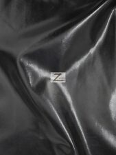 "METALLIC FOIL SPANDEX FABRIC - Black - 2 WAY STRETCH LYCRA 58""/60"" SOLD BTY"