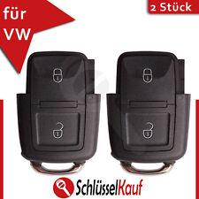 2 Stück VW Klappschlüssel 2 Tasten Gehäuse Volkswagen Seat Skoda Auto Schlüssel