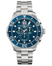 AUTHENTIC TAG HEUER CAN1011.BA0821 AQUARACER QUARTZ CHRONOGRAPH MENS BLUE WATCH