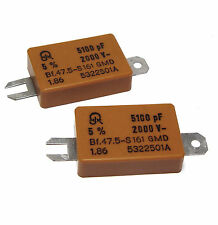 2x Glimmer-Kondensator, 5.1 nF / 2000 Volt, Jahre 47.5, Antennen-Kopplung, etc.