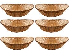 12 x VINTAGE ovale naturale di bambù vimini granaio Storage ostacolare Display Vassoio