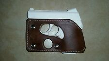 NAA GUARDIAN 380 pocket holster wallet shoot thru brown leather concealed carry