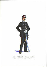 STAMPA UNIFORMI STORICHE - CARABINIERE UFFICIALE - PICCOLA MONTURA 1864 - DEGAI