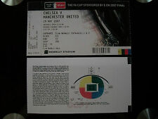 2007 F.A. Cup Final Ticket Chelsea v Manchester United mint condition.
