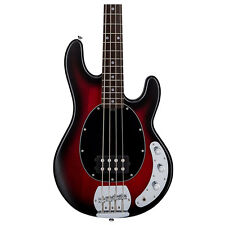 Sterling by Music Man Ray4 4-String Bass Rosewood Fretboard Ruby Red Satin Burst