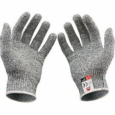 1 PAIR Gray Stainless Steel Wire Safety Works Anti-Slash Cut Resistance Gloves