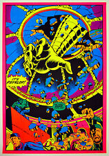 Vintage Marvel Psyklop and Hulk 1971 Third Eye Poster Great Condition