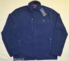 New XXL 2XL POLO RALPH LAUREN Mens Fleece Jacket navy blue 2X coat sports