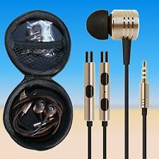 Piston Gold In-Ear Kopfhörer Ohrhörer Headset mit Hard-Case