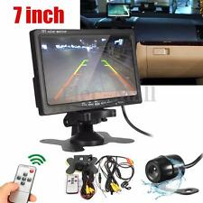 "Car 7"" TFT LCD Monitor Parking Side Rear Front View Backup 170° CMOS Camera Kit"