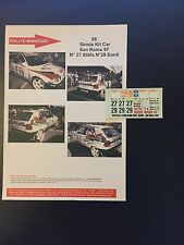 DECALS 1/43 SKODA FELICIA KIT CAR DANTI RALLYE SAN REMO ITALIA 1997 RALLY WRC