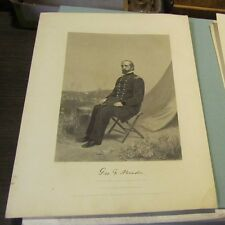 1864 Civil War Union General George Meade Johnson Fry Engraved Art Print Antique