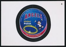 2016 TOPPS WACKY PACKAGES MLB - LOS ANGELES ANGELS HALO POLISH - STICKER #3