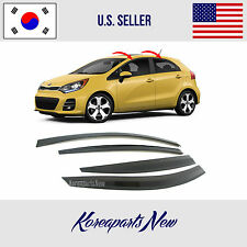 SMOKED DOOR WINDOW VENT VISOR SUN DEFLECTOR KIA RIO HATCHBACK 2012-2016