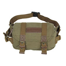 Canvas Vintage Waist Pack DSLR SLR Camera Shoulder Case Bag For Sony Canon Nikon