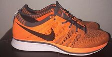 Nike Flyknit Trainer+ Running Shoes 2012 Mens Size 6.5 Orange Grey B-Grade