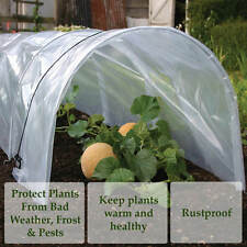 3x POLY TUNNEL CLOCHE MINI GREENHOUSE GARDEN GROW PROTECT PLANT 1.5M X 45 X 42cm