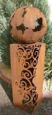 """Edelrostsäule """"Venezia"""" mit großen Ausschnitten 100cm OHNE SCHALE (Ohne Dekorati"""