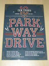 Parkway Drive - 10 Years  Australian Tour - Laminated Promo Poster