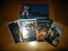 Transformers 1, 2, 3, & 4 and Transformers Vault...all 4 DVD's plus book...NEW