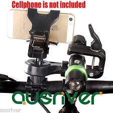 360° Bicycle Cycling Bike Handlebar Mount Phone Flashlight Stand Holder Cradle