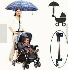Wheelchair Bicycle Stroller Chair Umbrella Bar Holder Mount Stand black Handle