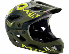 2016 MET Parachute Full Face MTB Helmet - Matt Black / Green (M (54-58cm))