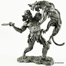 DUEL OF BEASTS. Tin toy soldiers. 75mm 1/23 miniature figurine. metal sculpture