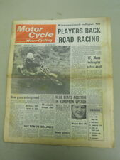 Motor Cycle Newspaper, Feb 7, 1968, Players Back Road Racing.   MCNP 68