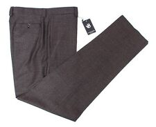 SARTORE Gray Melange Reda Super 130's Wool Flat Front Dress Pants 36 NWT $325!