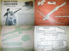 EZbuild 6 DIFFERENT Archery Plans CROSSBOW CROSS BOW 35