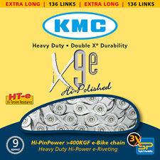 """9 compartimentos Cadena KMC x-9-E para E-Bike 1/2"""" x 11/128"""", 136 Eslabones"""